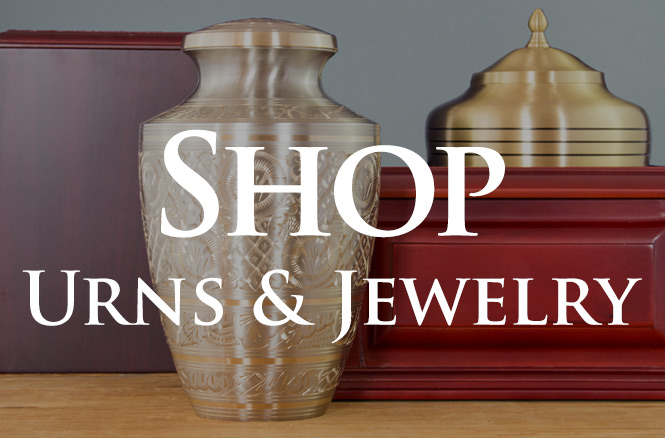 Shop urns and jewelry