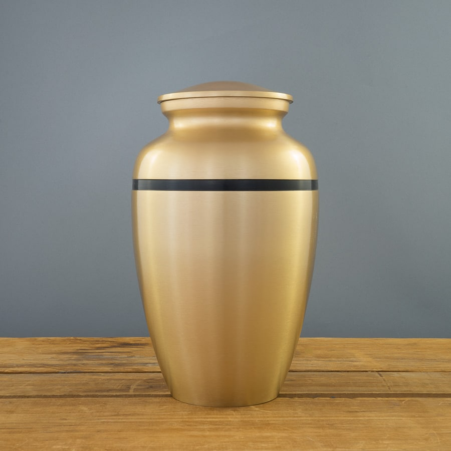 Trojan Gold Urn on Grey
